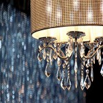 Chandelier and Glitter Wall