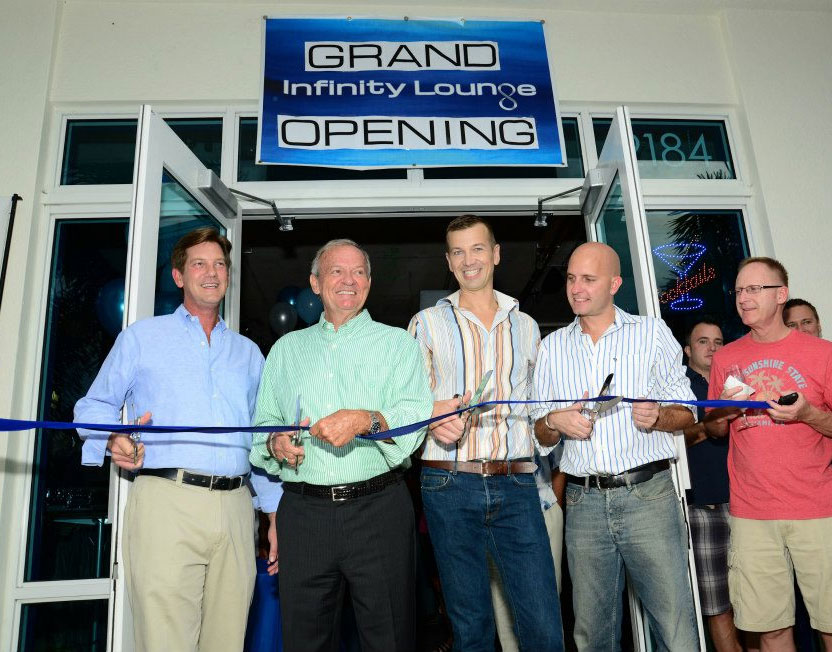 Ribbon Cutting Ceremony at Infinity Lounge